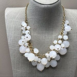Jewelry - Milky white chunky beaded statement necklace